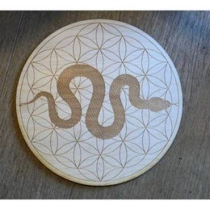Flower of Life Serpent Crystal Grid