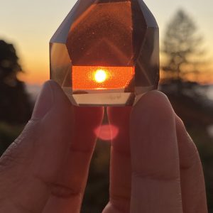 smoky quartz sunset